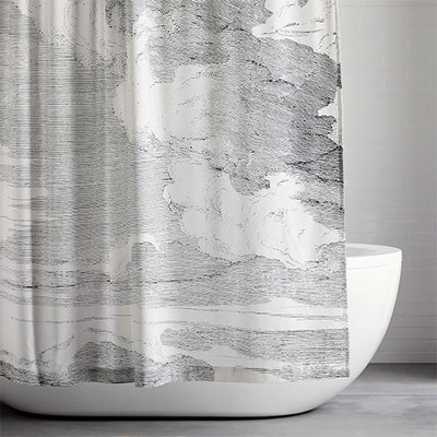 Organic Clouds Shower Curtain