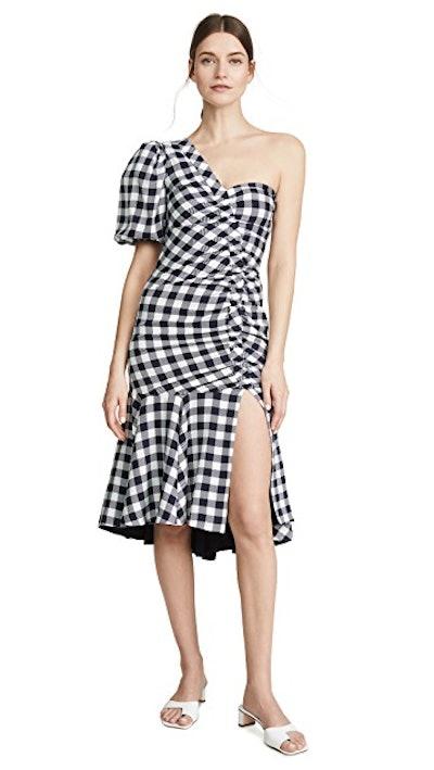 Lux Twill One Sleeve Dress