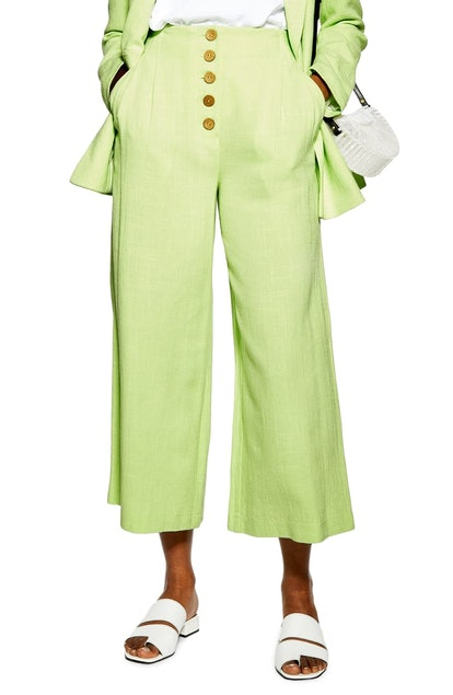 Coco Cropped Wide Leg Trousers