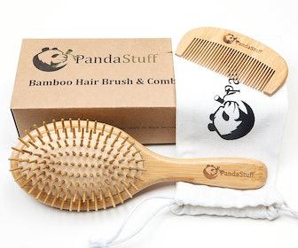 Panda Stuff Bamboo Hair Brush And Comb