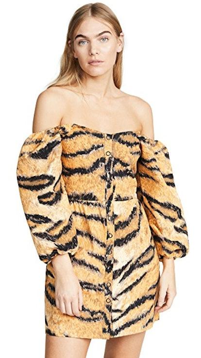 A-Line Animal Print Dress