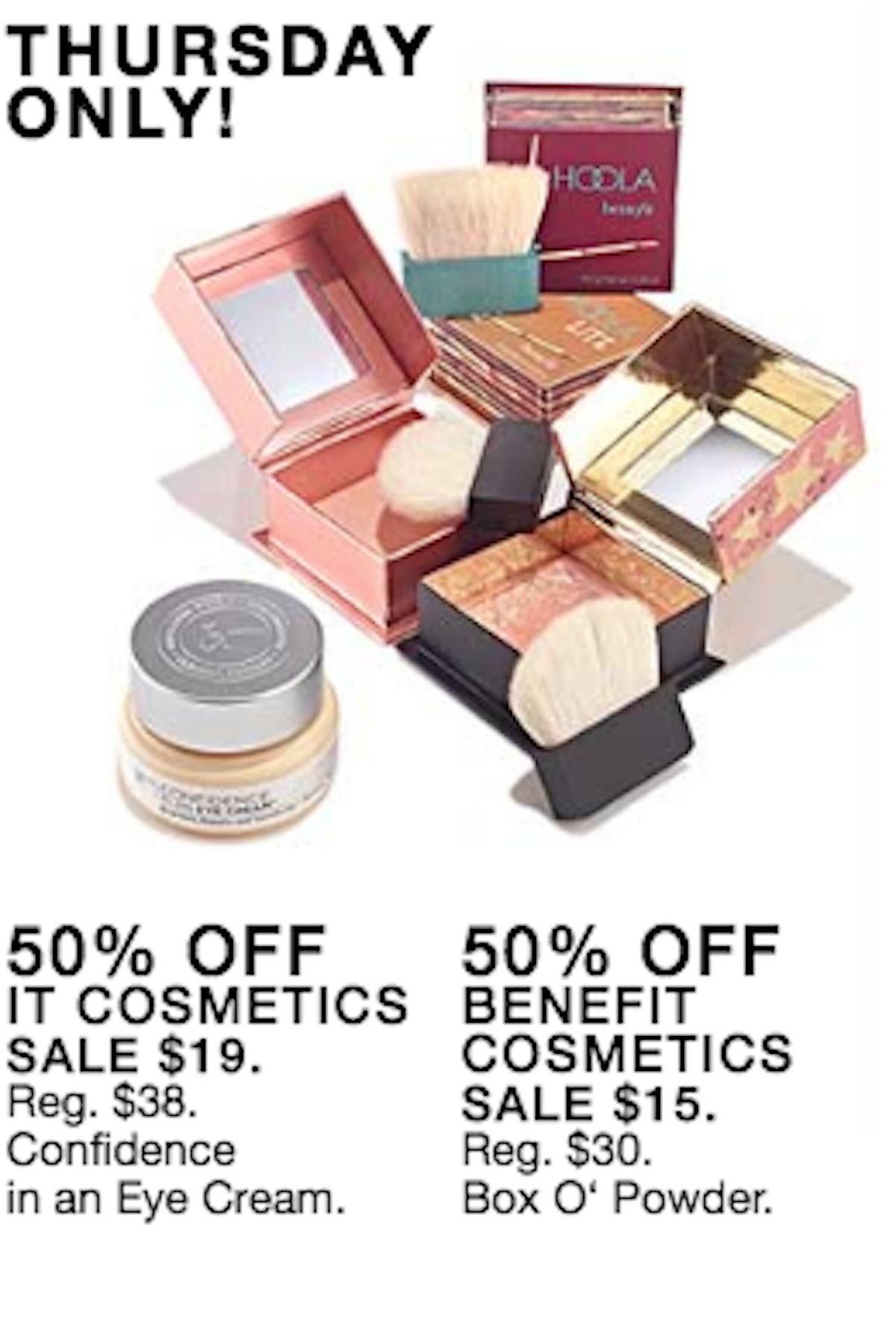 IT Cosmetics & Benefit Cosmetics