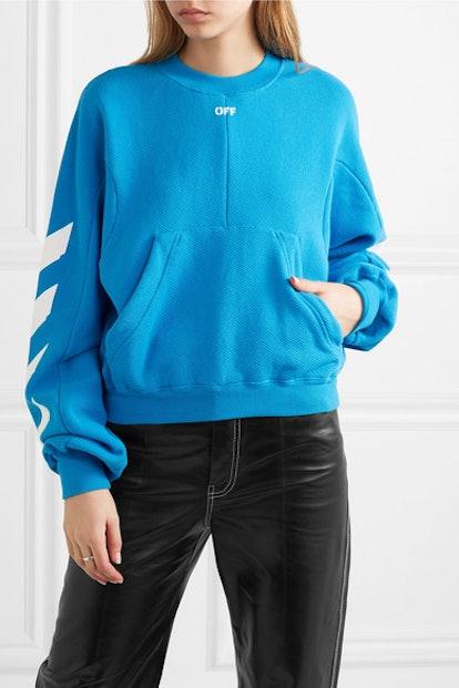 Diag Printed Cotton-Blend Sweatshirt
