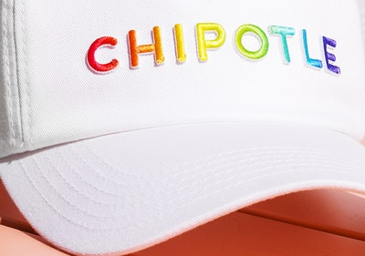 """Chipotle 2019 """"Love What Makes You Real"""" Pride Hat"""