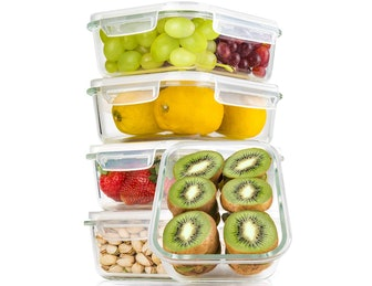 Bayco Large Glass Meal Prep Containers (5-Pack)