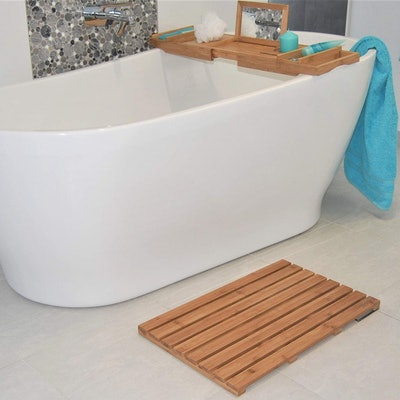 Xenjoi Natural Bamboo Bath Mat