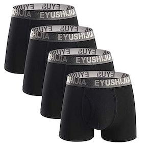 Eyushijia Bamboo Fiber Boxer Briefs (4-Pack)