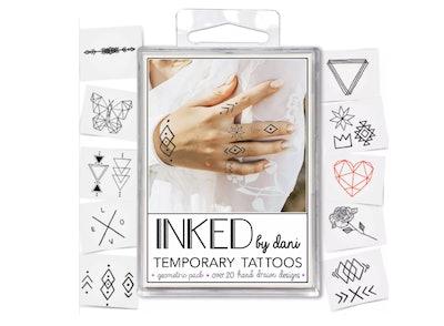 INKED by Dani 20pk Geometric Temporary Tattoos