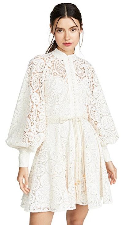 Amari Paisley Lace Short Dress