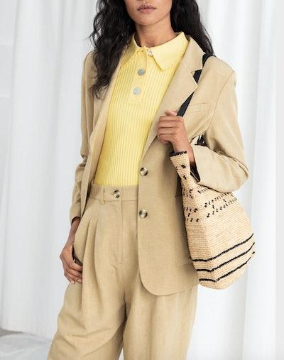 Oversized Linen Blend Blazer