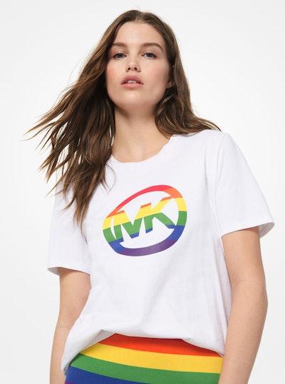MICHAEL Michael Kors #MKGO Rainbow Pride Cotton T-Shirt