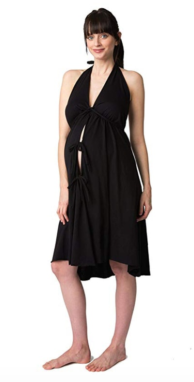 Pretty Pushers Cotton Jersey Labor Gown