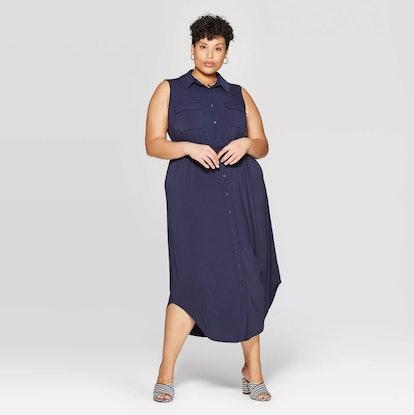 Knit Midi Shirtdress