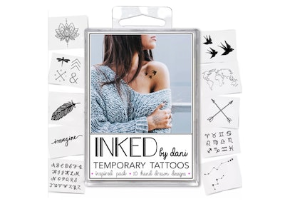 INKED by Dani 10pk Inspired Temporary Tattoos