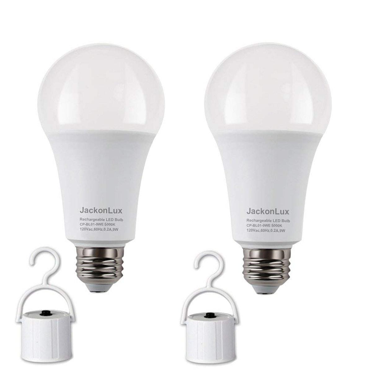 JackonLux Rechargeable LED Bulb (2 Pack)