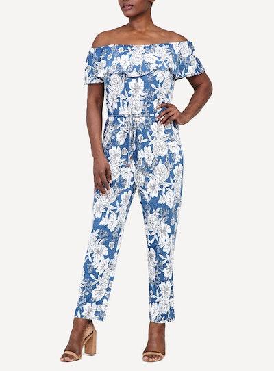 Izabel Blue Floral Print Jumpsuit