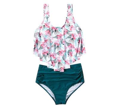 RXRXCOCO Flounce High-Waisted Bikini Swimsuit
