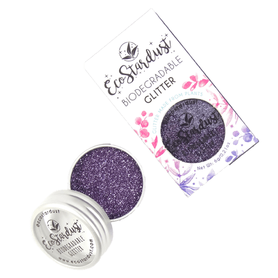 EcoStardust Violet Biodegradable Glitter