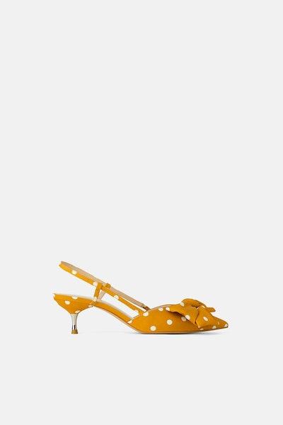Polka Dot Tie Heels
