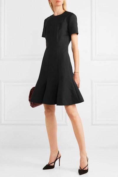 Pleated Wool-Blend Mini Dress