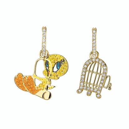 Looney Tunes Tweety Hooped Pierced Earrings