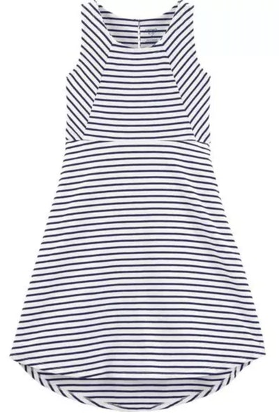 Striped Hi-Lo Tank Dress