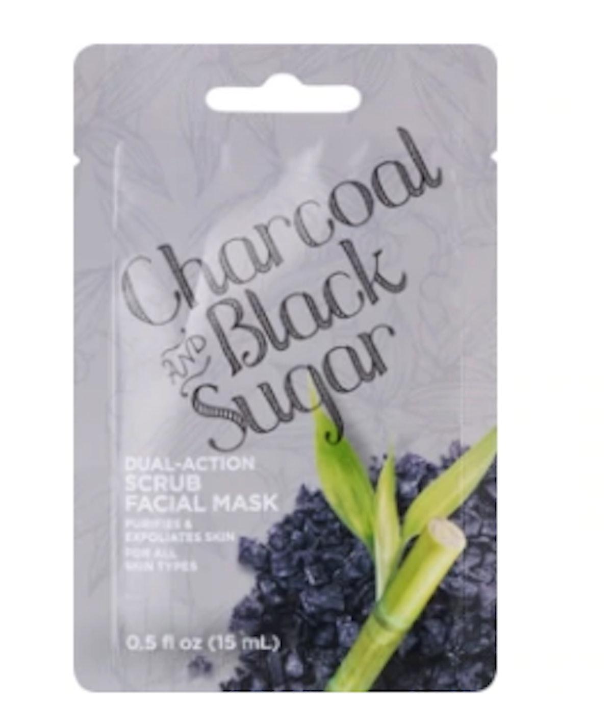 Charcoal And Black Sugar Dual Action Scrub Facial Mask