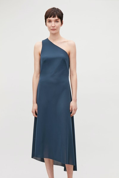 Asymmetric Strap Jersey Dress