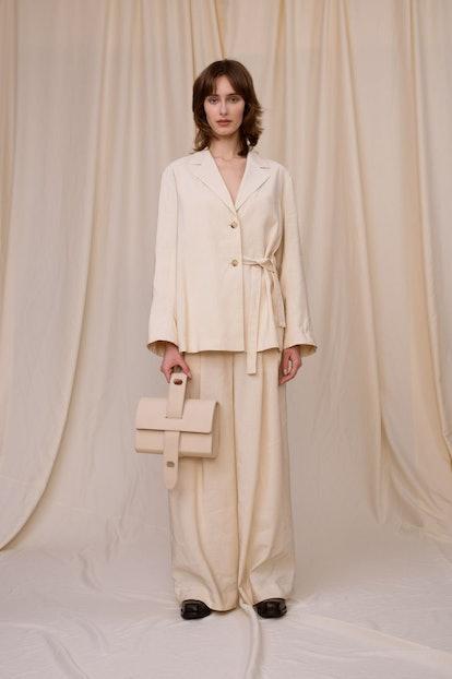 Light Beige Modal Linen Jacket