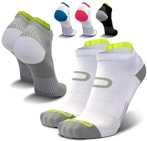 Crucial Compression Running Ankle Socks for Men & Women (2 Pack)