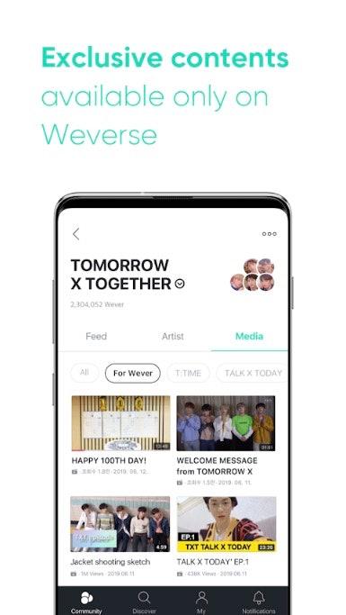 Big Hit's Weverse App