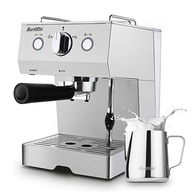 Barsetto Espresso Machine 15 Bar Stainless Steel Coffee Brewer