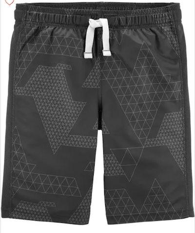 Geo Print Active Mesh Shorts