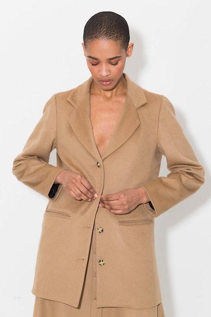 Sand Cashmere Wool Blazer