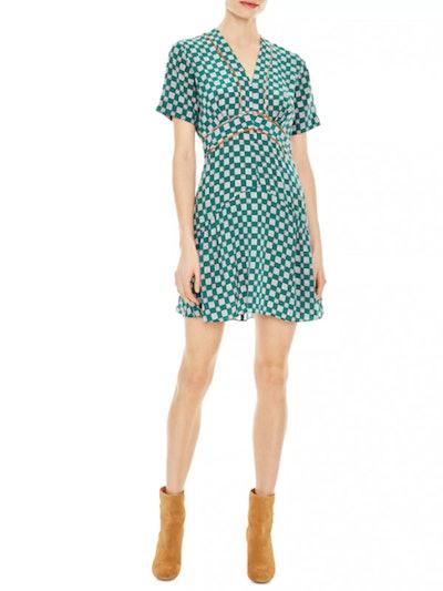 Dalli Geo-Print Silk Mini Dress