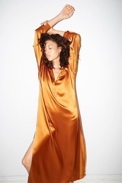 Gold Amber Caftan Dress