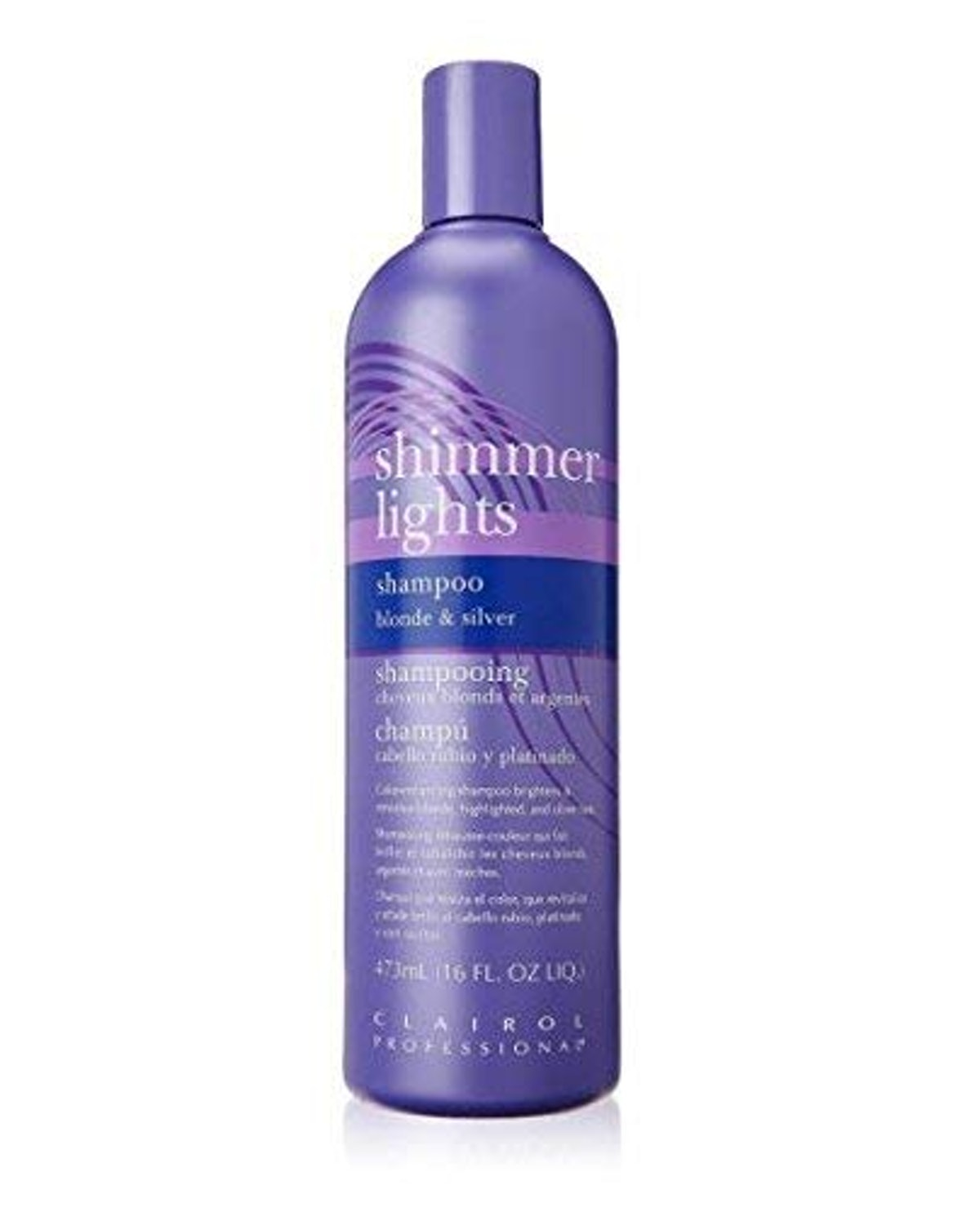 Clairol Professional Shimmer Lights Shampoo Blonde & Silver (16 oz)