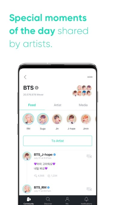 What Is Weverse? BTS & TXT's New Official Fan Community App