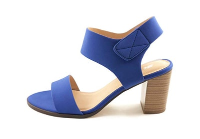 SODA Open Toe Block High Heel Dress Sandals