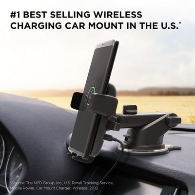 iOttie Easy One Touch Wireless Qi Fast Charge Car Mount