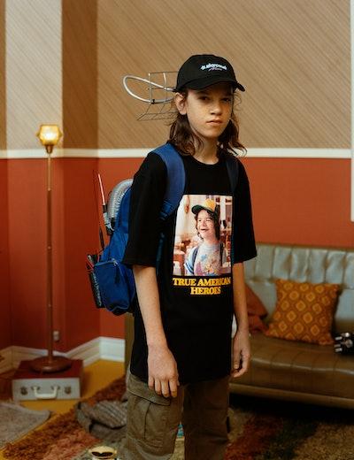 Black Stranger Things 3 Dustin T-shirt