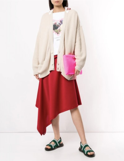 Cotton Layered Cardigan