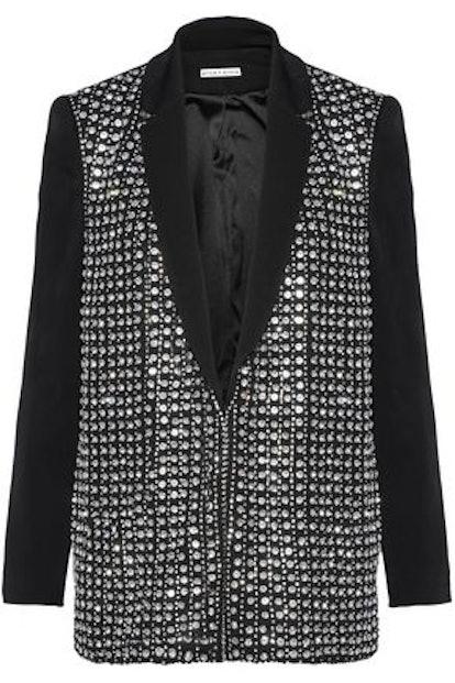 Jace Crystal-Embellished Crepe Jacket