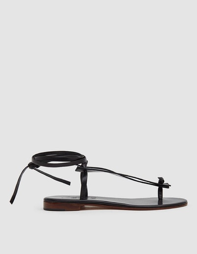 Martiniano Bibiana Leather Flat in Black