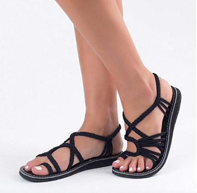 Plaka Palm Leaf Flat Sandals