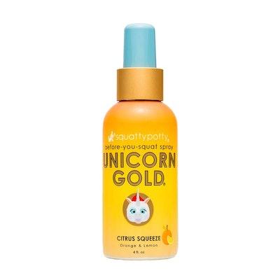 Squatty Potty Unicorn Gold Toilet Spray, Citrus Squeeze
