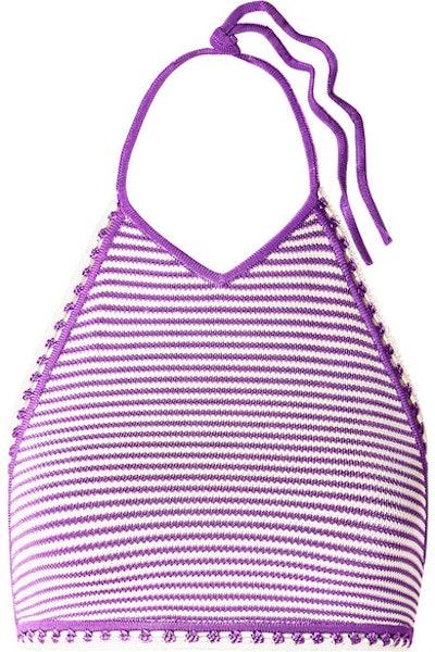 Clara Striped Crochet-Knit Top