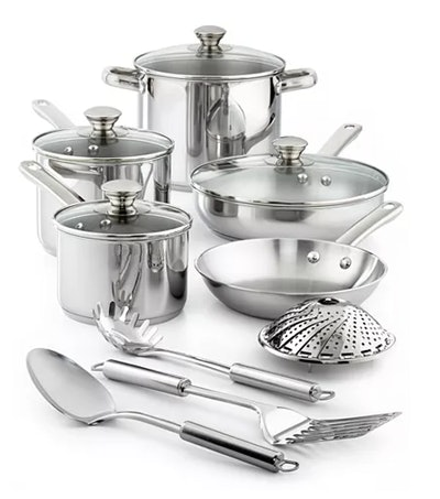Tools of the Trade Stainless Steel Cookware Set (13 pieces)