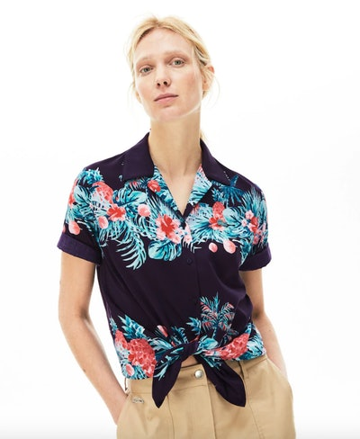 Hawaiian Print Light Cotton Voile Shirt