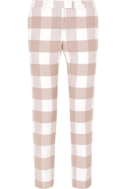 Cropped Gingham Trousers